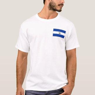 エルサルバドルの旗および地図のTシャツ Tシャツ