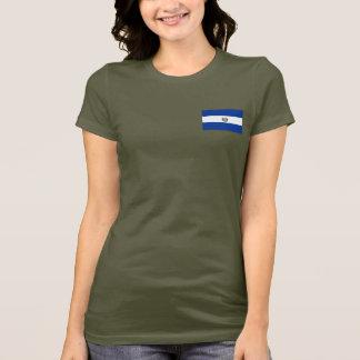 エルサルバドルの旗および地図dkのTシャツ Tシャツ