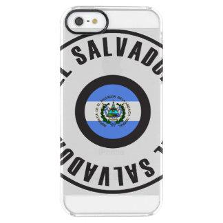エルサルバドルの旗のシンプル クリア iPhone SE/5/5sケース