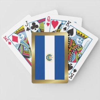 エルサルバドルの旗のトランプ バイスクルトランプ