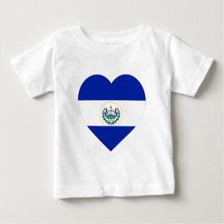 エルサルバドルの旗のハート ベビーTシャツ