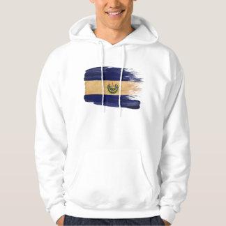 エルサルバドルの旗のフード付きスウェットシャツ パーカ