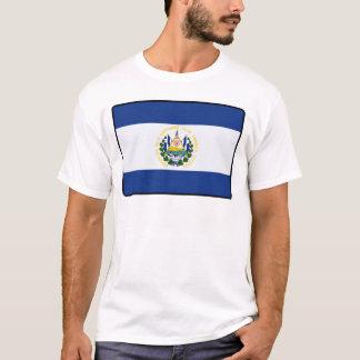 エルサルバドルの旗の人の女性 Tシャツ