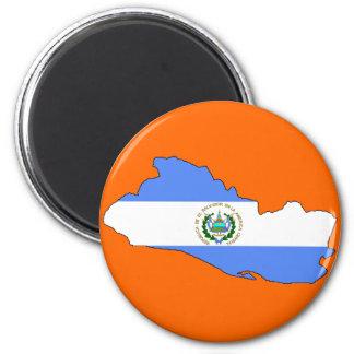 エルサルバドルの旗の地図 マグネット