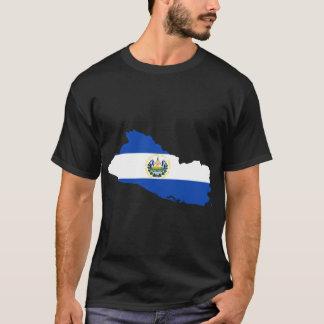 エルサルバドルの旗の地図 Tシャツ