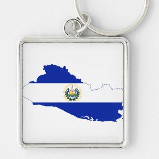 エルサルバドルの旗の地図SV キーホルダー