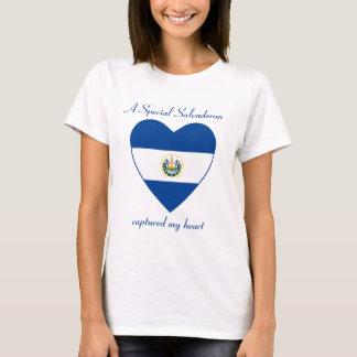 エルサルバドルの旗の恋人のTシャツ Tシャツ