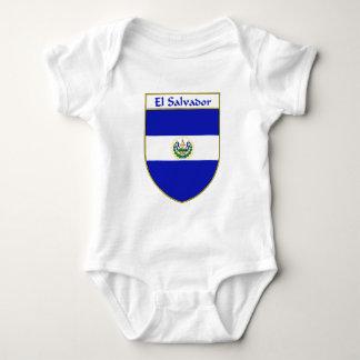 エルサルバドルの旗の盾 ベビーボディスーツ