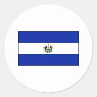 エルサルバドルの旗インターナショナル ラウンドシール