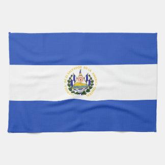 エルサルバドルの旗 キッチンタオル