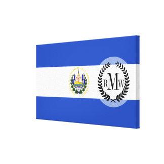 エルサルバドルの旗 キャンバスプリント