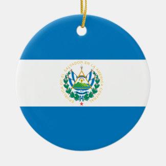 エルサルバドルの旗 セラミックオーナメント