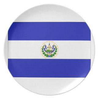 エルサルバドルの旗 プレート