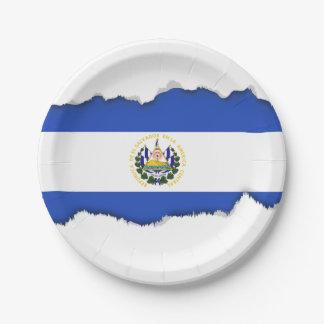 エルサルバドルの旗 ペーパープレート