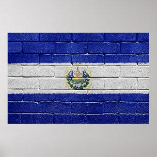 エルサルバドルの旗 ポスター