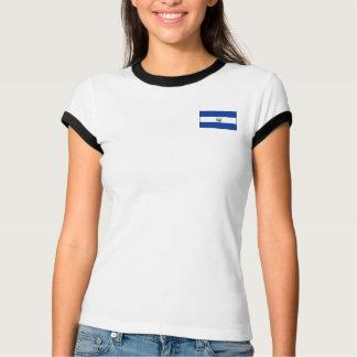 エルサルバドルの旗 + 地図のTシャツ Tシャツ