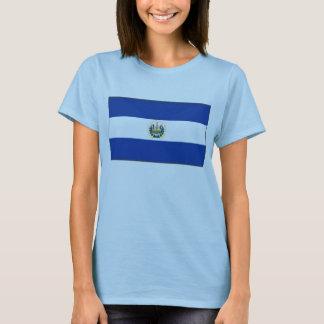 エルサルバドルの旗Xの地図のTシャツ Tシャツ