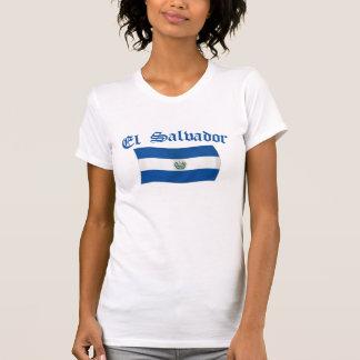 エルサルバドルの波状の国旗 Tシャツ