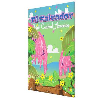 エルサルバドルの漫画旅行印刷物 キャンバスプリント