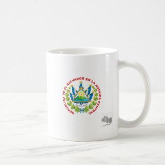 エルサルバドルの紋章およびバーコード コーヒーマグカップ