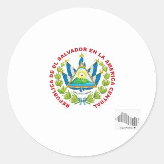 エルサルバドルの紋章およびバーコード ラウンドシール