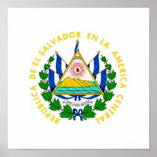 エルサルバドルの紋章付き外衣 ポスター