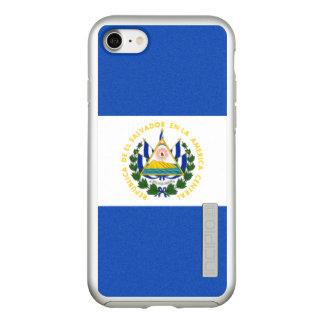 エルサルバドルの銀製のiPhoneの場合の旗 Incipio DualPro Shine iPhone 8/7ケース