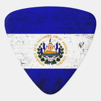 エルサルバドルの黒くグランジな旗 ギターピック