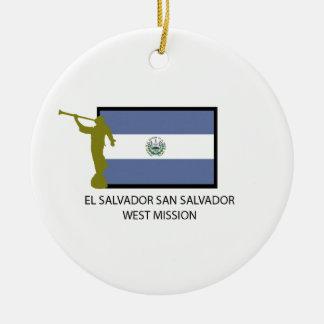 エルサルバドルサンサルバドルの西の代表団LDS CTR セラミックオーナメント