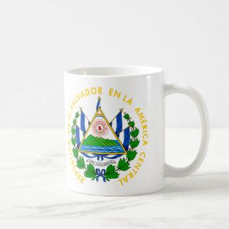 エルサルバドル-または記号紋章か旗または紋章付き外衣 コーヒーマグカップ