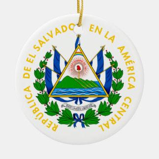 エルサルバドル-または記号紋章か旗または紋章付き外衣 セラミックオーナメント