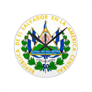 エルサルバドル-または記号紋章か旗または紋章付き外衣 ラウンド壁時計