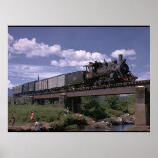 エルサルバドル、世界のFc De ES 2-8-0_Trains ポスター