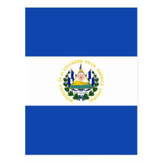 エルサルバドル- Bandera deエルサルバドルの旗 ポストカード