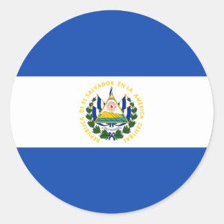エルサルバドル- Bandera deエルサルバドルの旗 ラウンドシール