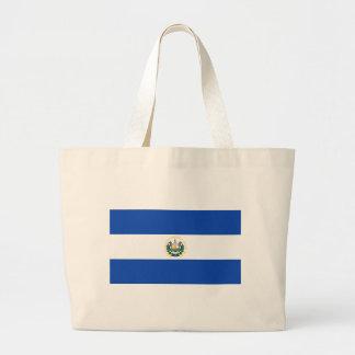 エルサルバドル- Bandera deエルサルバドルの旗 ラージトートバッグ