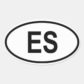 """エルサルバドル""""ES """" 楕円形シール"""