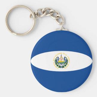 エルサルバドルFisheyeの旗Keychain キーホルダー