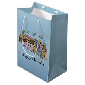 エルサレムのハヌカー(ユダヤ教の祭り)のギフトバッグ ミディアムペーパーバッグ
