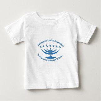 エルサレムのメシア的なユダヤ人のシール ベビーTシャツ