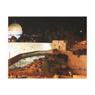 エルサレムの古い都市眺め キャンバスプリント