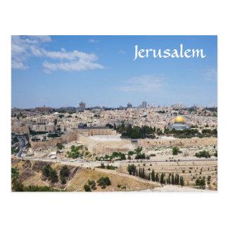 エルサレムの古い都市、イスラエル共和国の眺め ポストカード