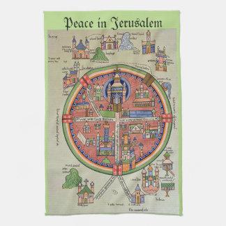 エルサレムの台所タオルの平和 キッチンタオル