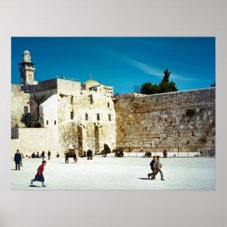 エルサレムの西部の壁 ポスター