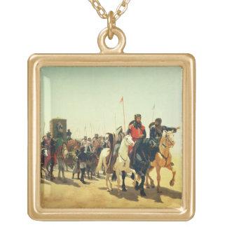 エルサレムへの彼の方法のリチャードCoeur de Lion ゴールドプレートネックレス