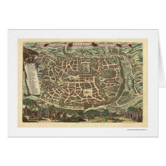 エルサレムイスラエル共和国の地図1660年 カード