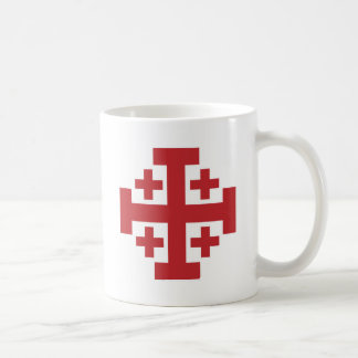 エルサレム十字のシンプルな赤 コーヒーマグカップ