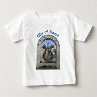 エルサレム、イスラエル共和国のデイヴィッド市 ベビーTシャツ