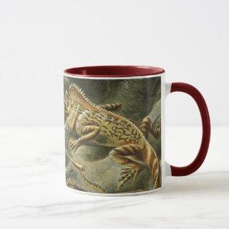 エルンスト・ヘッケルのヴィンテージのトカゲ動物によるLacertilia マグカップ
