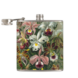 エルンスト・ヘッケルの蘭、ヴィンテージの雨林の花 フラスク